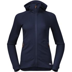Bergans Tuva LT Hooded Wool Jacket Women navy